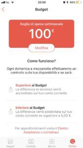 Impostare budget Satispay